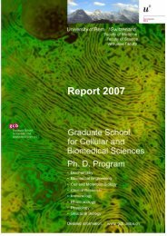 Report 2007 (pdf, 248KB) - Graduate School for Cellular and ...