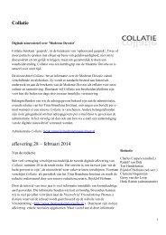 Collatie aflevering 28 – februari 2014 - Titus Brandsma Instituut