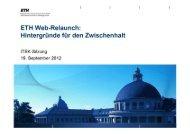 ETH Web-Relaunch - ITEK