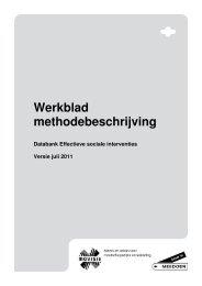 Werkblad methodebeschrijving - Movisie