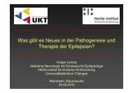Was gibt es Neues in der Pathogenese und Therapie der Epilepsien?
