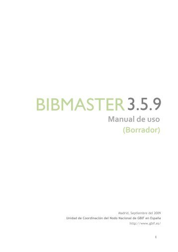 BIBMASTER 3.5.9 - Gbif.es