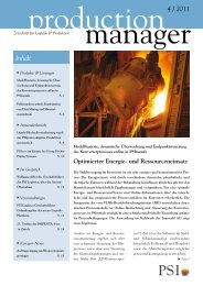 production manager 4/2011 - PSI Metals GmbH
