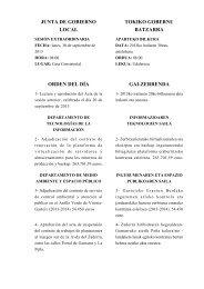 Orden del día - Ayuntamiento de Vitoria-Gasteiz