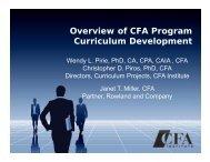 Overview of CFA Program Curriculum Development - CFA Society of ...
