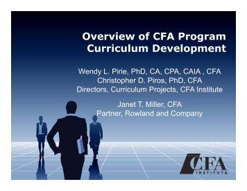 Overview of CFA Program Curriculum Development - CFA Society of ...