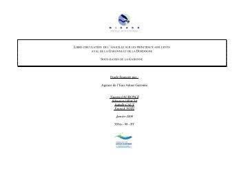 Etude financée par : Agence de l'Eau Adour Garonne - Webissimo