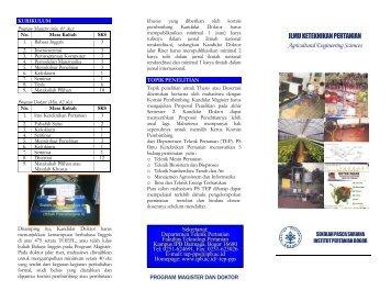 ILMU KETEKNIKAN PERTANIAN Agricultural Engineering Sciences