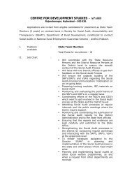 centre for development studies – apard - Andhra Pradesh Academy ...