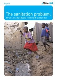 The sanitation problem: what can and should the health ... - WaterAid