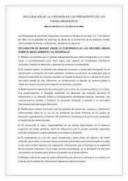 DECLARACIÓN DE LA II REUNIÓN DE LOS ... - OTCA
