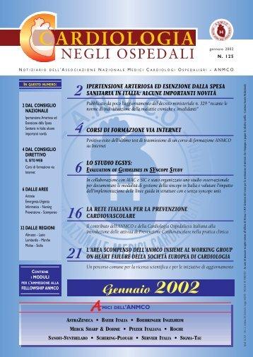 Cardiologia negli Ospedali n° 125 gennaio 2002 - Anmco