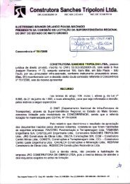 recurso administrativo sanches tripoloni - Dnit