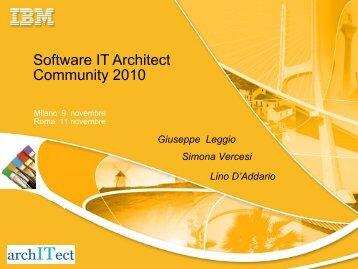 Software IT Architect Community - Guide Share Italia