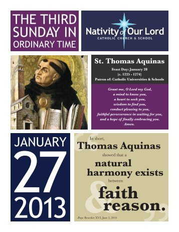 January 27, 2013 - Nativity of Our Lord