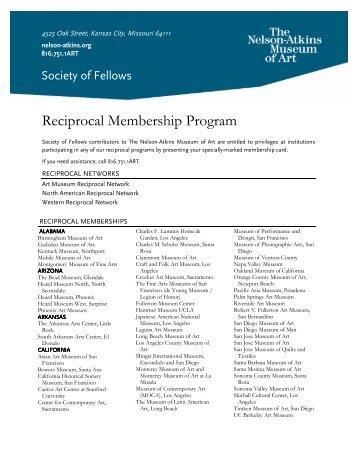 Reciprocal Membership Program - The Nelson-Atkins Museum of Art