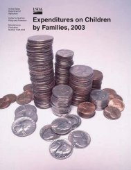 Expenditures on Children by Families, 2003 - Center for Nutrition ...