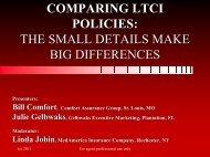 LTC 915 -- Comparing LTC Policies