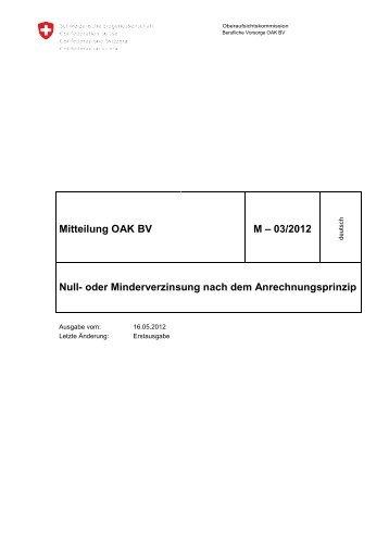 Mitteilung 3/2012 OAK - Oberaufsichtskommission Berufliche ...