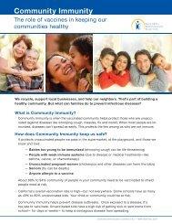Community Immunity - California Immunization Coalition