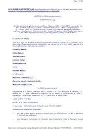 Copie Intégrale du Jugement de la CJCE concernant le pollen OGM ...