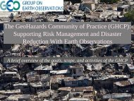 Diapositive 1 - Geohazards Community of Practice of GEO