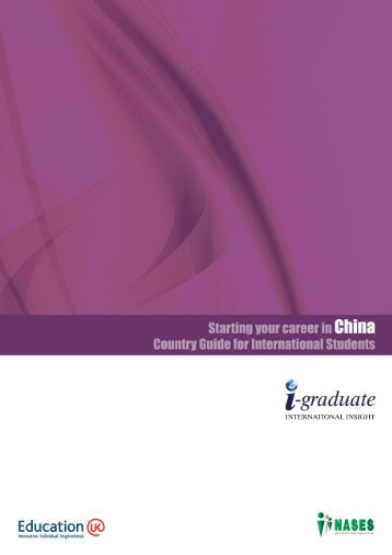 Starting your career in China (PDF) - The Careers Service