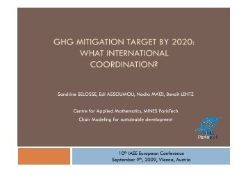ghg mitigation target by 2020: what international ... - MINES ParisTech
