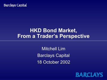 Mr. Mitchell Li of Barclays Capital