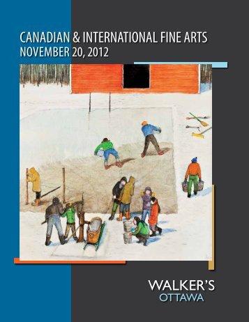 CANADIAN & INTERNATIONAL FINE ARTS - Walker's Auctions
