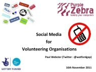 Social Media for Volunteering Organisations - One East Midlands