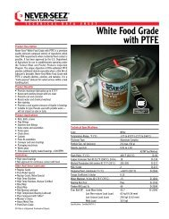 White Food Grade with PTFE - Bostik, Inc