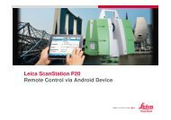 Leica ScanStation P20 Remote Control via Android Device ... - Gefos