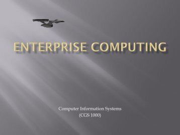 Enterprise Computing - Tiona Consulting