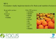 WP 5 Consumer study implementation for fruits and ... - Focus-Balkans