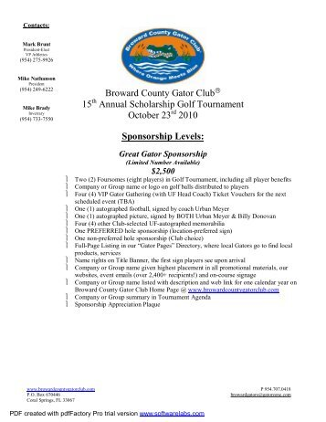 Gator Golf 2010 - Blacktie South Florida