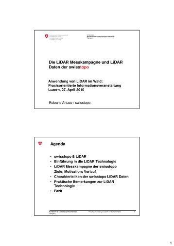 Die LiDAR Messkampagne und LiDAR Daten der ... - Planfor