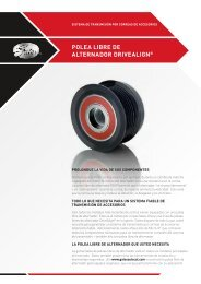 POLEA LIBRE DE ALTERNADOR DRIVEALIGN® - Gates Corporation