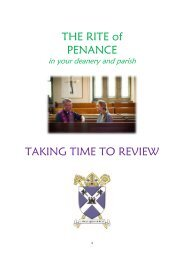 Deanery/parish review of reconciliation
