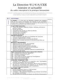 La Directive 91/414/CEE