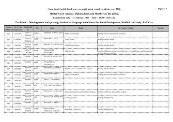 CCGL9011 Tutorial Name List