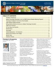 March 2013 Newsletter - American College of Medical Toxicology