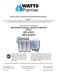 WP-4 BVC WP4-50 BVC - Clean My Water
