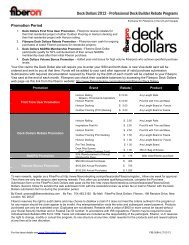 Deck Dollars 2012 - Professional Deck Builder Rebate Programs