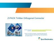 Z-PACK TinMan Orthogonal Connector