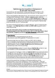 Optimierung einer Investition in Solargreece II für den GGF ... - Gowin