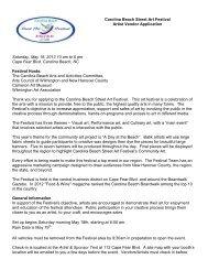 Carolina Beach festival-Application - Wilmington Art Association