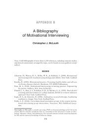 A Bibliography of Motivational Interviewing