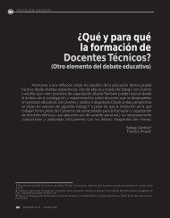 ¿Qué y para qué la formación de Docentes ... - Revista Docencia