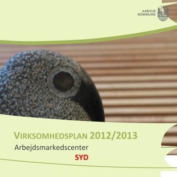 VIRKSOMHEDSPLAN 2012/2013 - Aarhus.dk